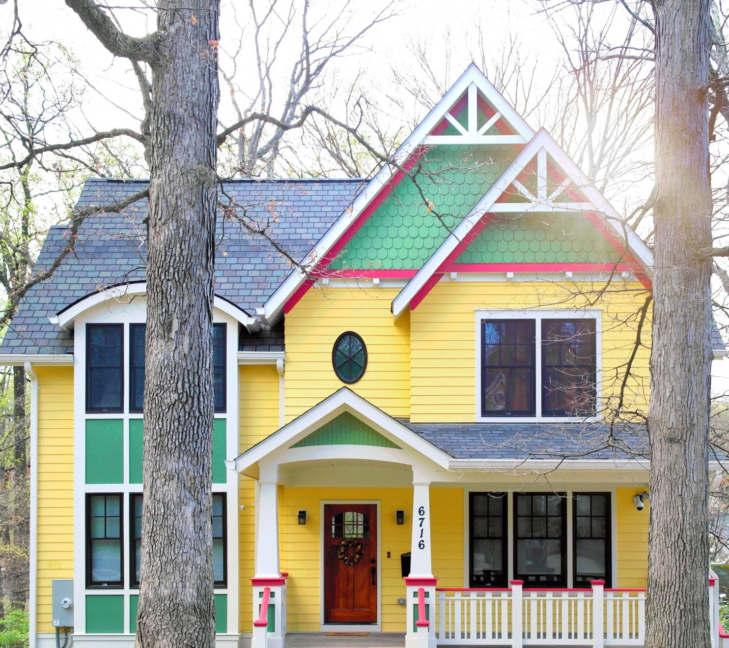 Color Splashed Houses popping up in Washington DC